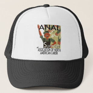 Afl cio hats zazzle greetings from the common worker trucker hat m4hsunfo Images