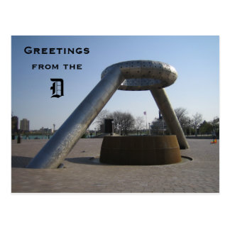 Greetings from the D Postcard