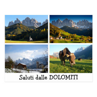 Greetings from the Dolomites postcard