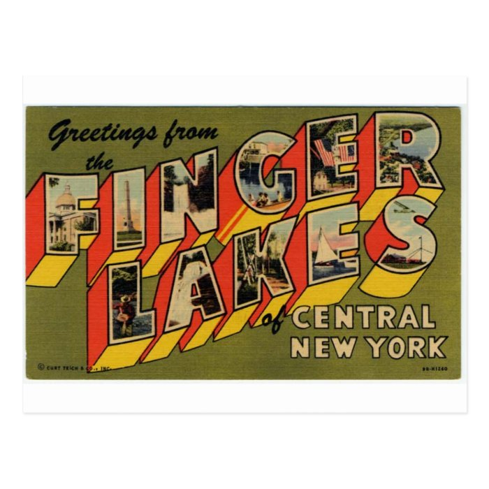Greetings from new york postcard zazzle greetings from the finger lakes new york postcard zazzle m4hsunfo