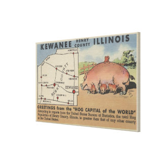Greetings From the Hog Capital of the World Gallery Wrap Canvas