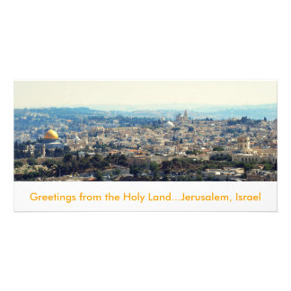 Greetings from the Holy Land Jersalem card Photo Greeting Card