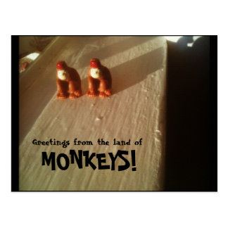 Greetings from the land of Monkeys! Postcards