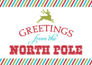 North pole letter cards greeting photo cards zazzle greetings from the north pole holiday card m4hsunfo
