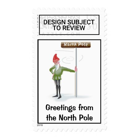 Greetings From The North Pole Postage Stamp