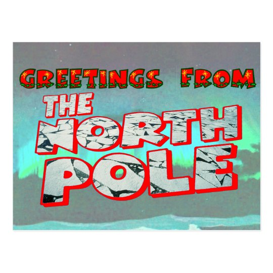 Greetings from the north pole postcard zazzle greetings from the north pole postcard m4hsunfo