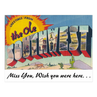Greetings from The Ole Southwest Postcard