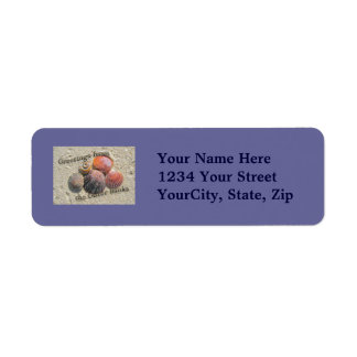 Greetings from the Outer Banks Seashells Items Label