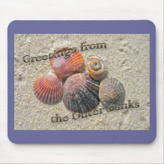 Greetings from the Outer Banks Seashells Mouse Pad