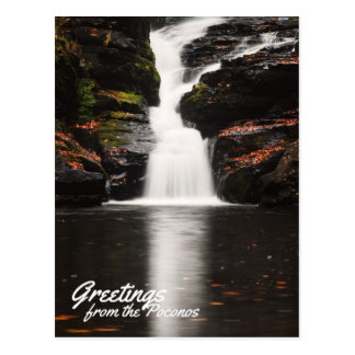 Greetings from the Poconos Beautiful Fulmer Falls Postcard