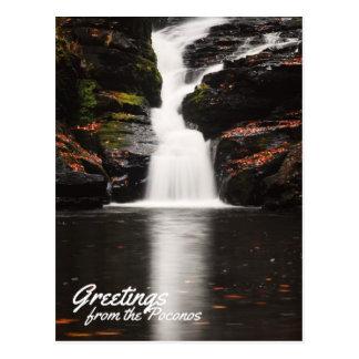 Greetings from the Poconos Beautiful Fulmer Falls Postcard