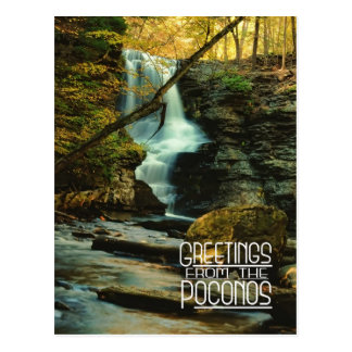 Greetings from the Poconos! Fulmer Falls Postcard