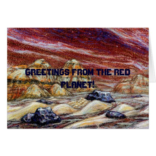 Greetings from the Red Planet! Customizable Card