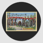 Greetings from the Redwoods of California Sticker