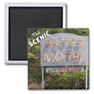 Greetings From The Scenic Bates Motel 2 Inch Square Magnet