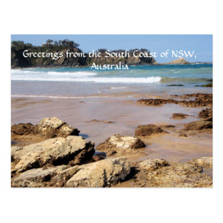 Greetings from the South Coast of NSW Postcard