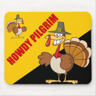 Greetings from the Thanksgiving Day Turkey Mouse Pad