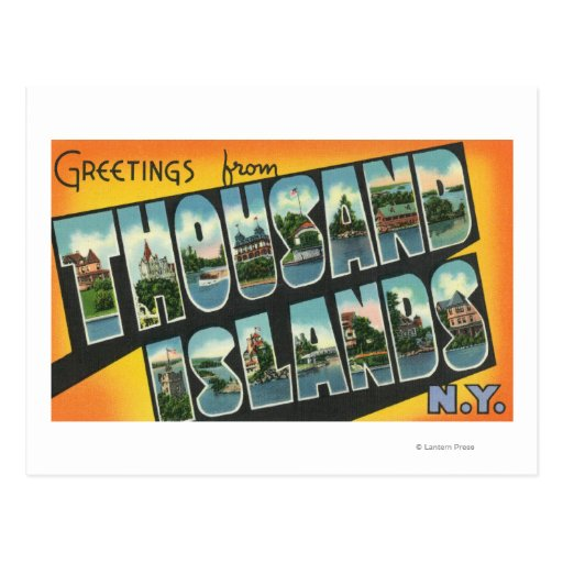 Greetings from Thousand Islands, New York Postcard