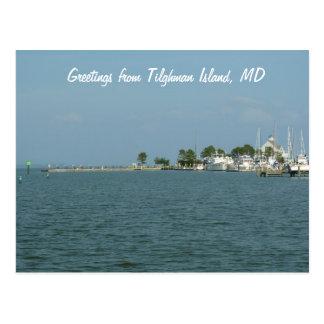 Greetings from Tilghman Island, MD Postcard