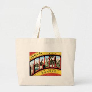 Greetings From Topeka Kansas Tote Bags