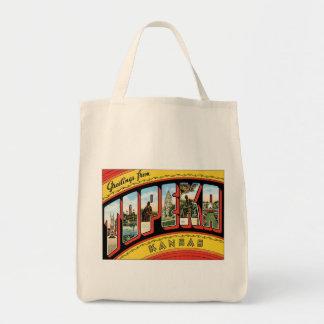 Greetings From Topeka Kansas Bags
