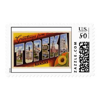 Greetings from Topeka Kansas Postage