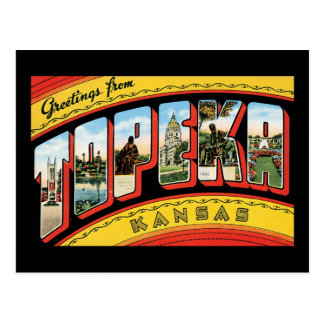 Greetings from Topeka, Kansas Postcard