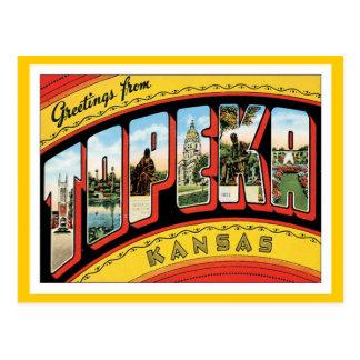 Greetings From Topeka Kansas Postcard