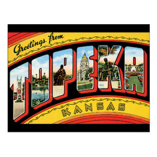 Greetings from Topeka Postcard