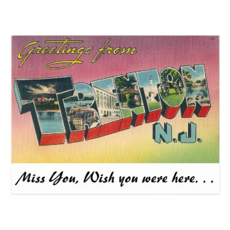 Greetings from Trenton, New Jersey Postcard