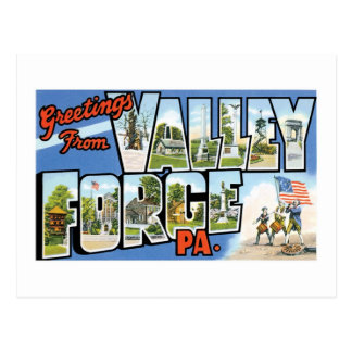 Greetings from Valley Forge, PA Postcard