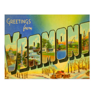 Greetings From Vermont USA Postcard