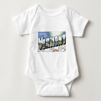 Greetings from Vermont! Vintage Post Card Baby Bodysuit