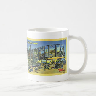 Greetings from Virginia Beach Vintage Postcard Mug