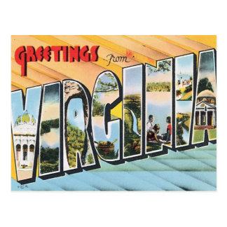 Greetings From Virginia VA USA Postcard