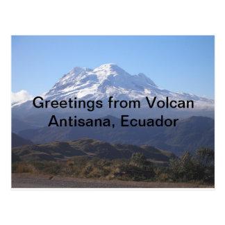 Greetings from Volcan Antisana, Ecuador Tarjeta Postal