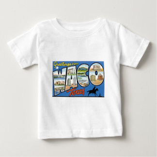 Greetings from Waco, Texas! Retro Post Card Baby T-Shirt