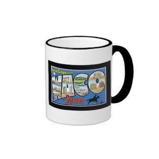 Greetings from Waco Texas Ringer Mug