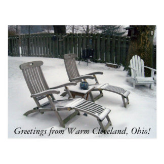 Greetings from Warm Cleveland Ohio Postcard