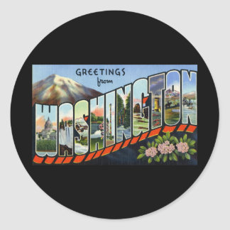 Greetings from Washington Classic Round Sticker