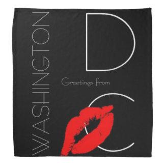 Greetings from Washington D.C. Red Lipstick Kiss Bandana