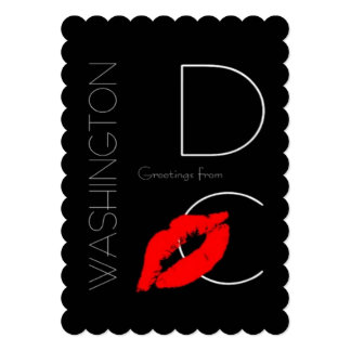 Greetings from Washington D.C. Red Lipstick Kiss Card