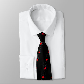 Greetings from Washington D.C. Red Lipstick Kiss Neck Tie