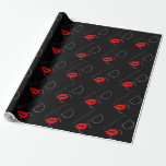Greetings from Washington D.C. Red Lipstick Kiss Wrapping Paper