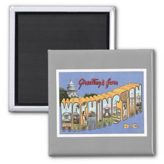 Greetings From Washington, D.C. USA 2 Inch Square Magnet