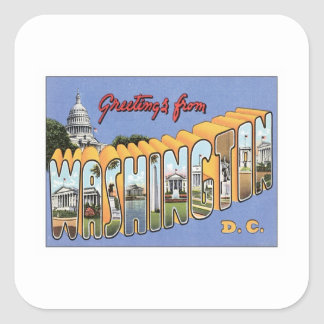Greetings From Washington, D.C. USA Square Sticker