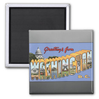 Greetings From Washington D.C., Vintage Magnet