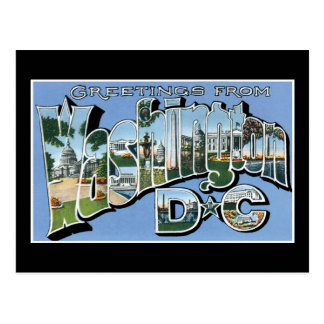Greetings from Washington D.C.! Vintage Post Card