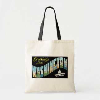 Greetings from Washington D.C.!  Vintage Post Card Tote Bag