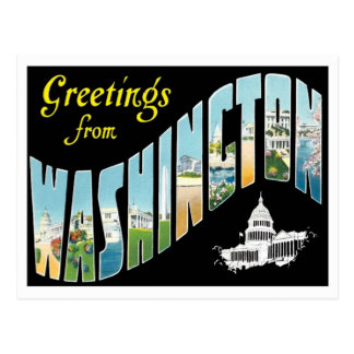 Greetings From Washington, D.C. Vintage Postcard